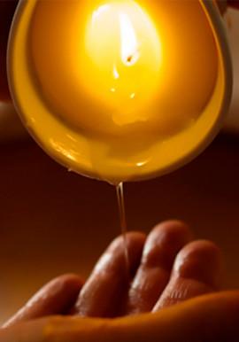 Masaje con vela de masaje
